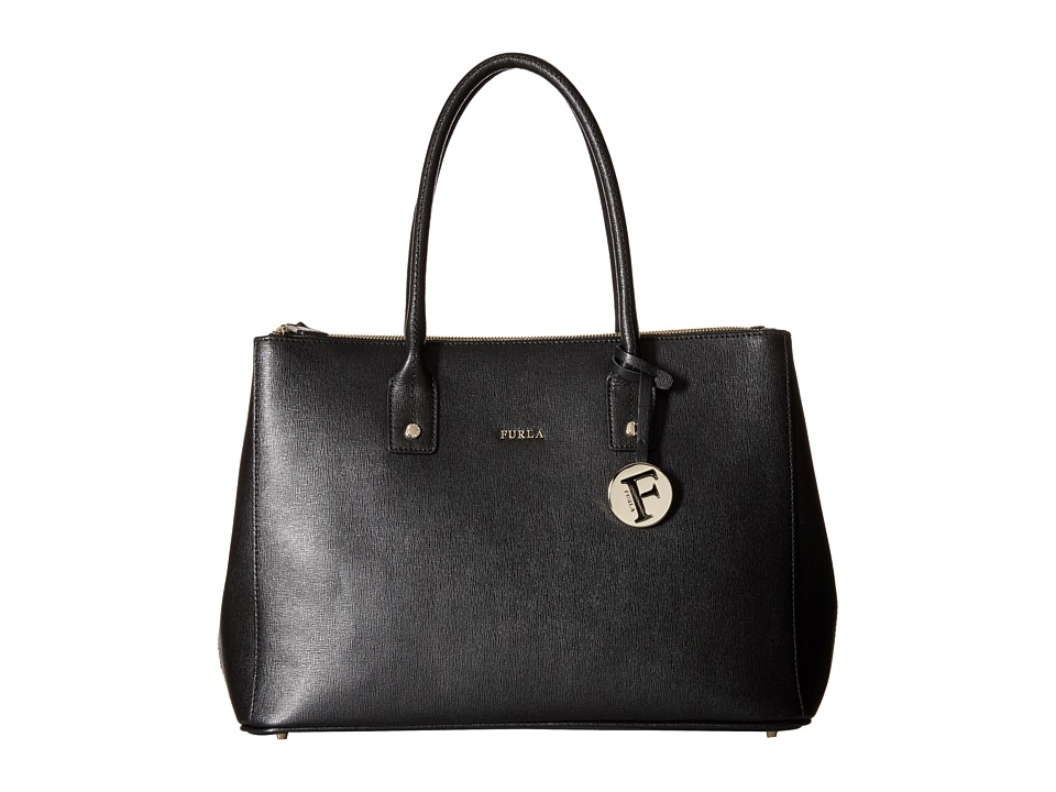 Furla - Linda Medium Carryall with Zip (Onyx) Handbags