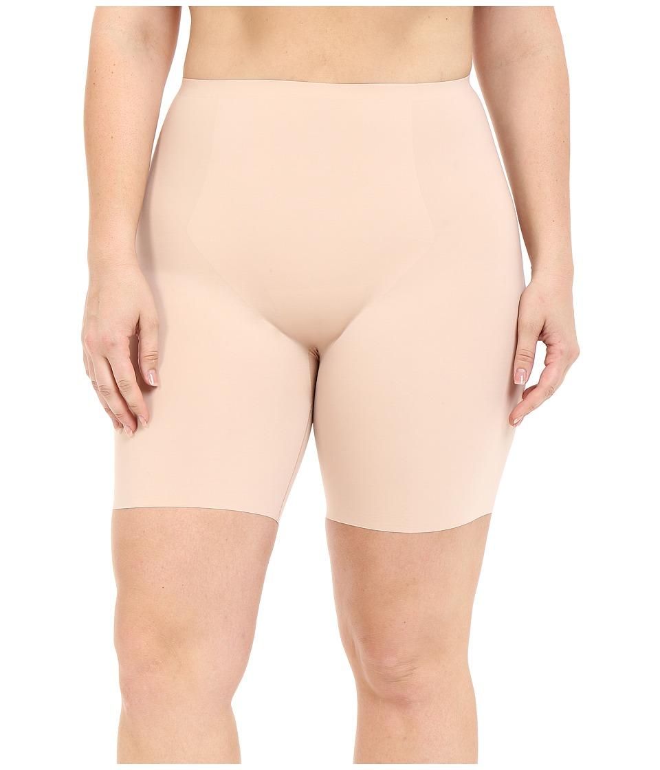 Spanx Plus Size Thinstincts Mid Thigh Short Soft Nude Womens Underwear