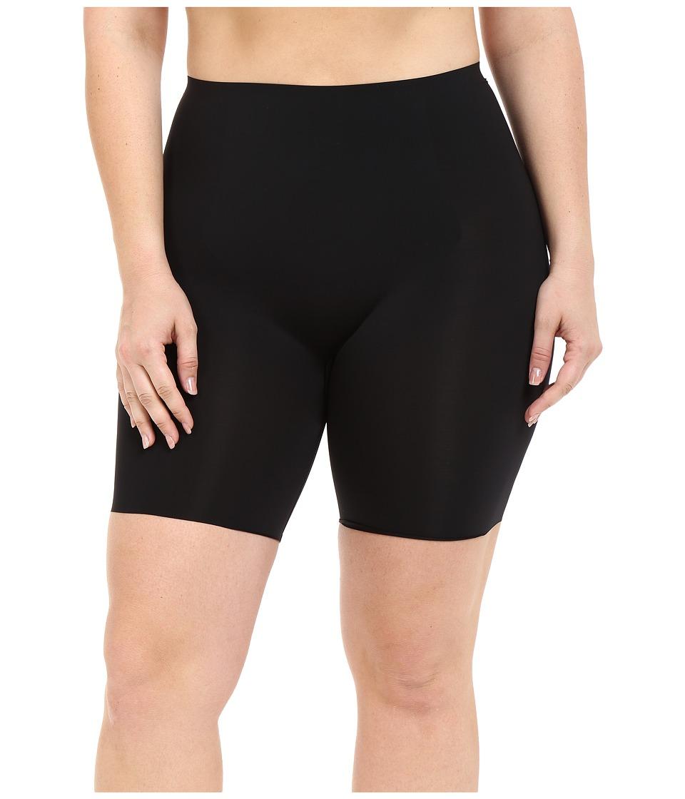 Spanx Plus Size Thinstincts Mid Thigh Short Very Black Womens Underwear