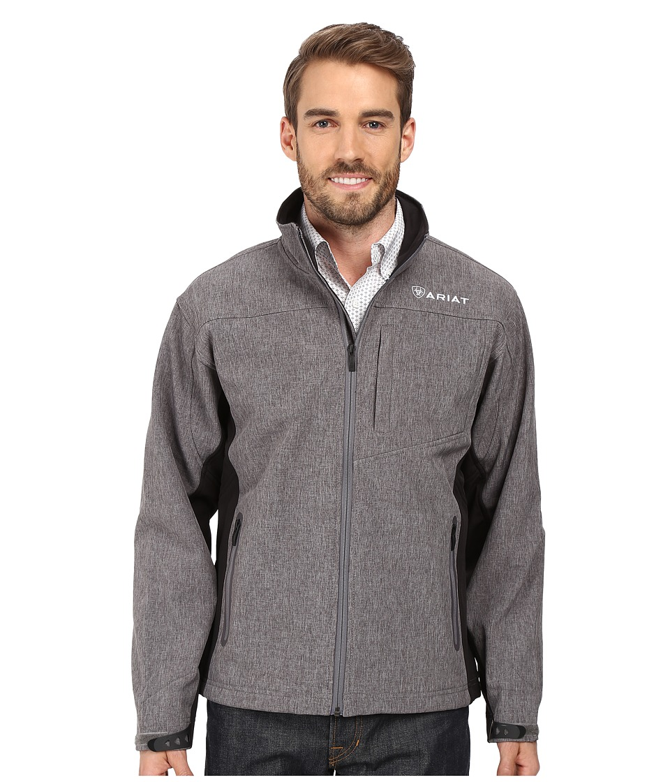 Ariat Vernon Softshell Jacket (Charcoal Heather) Men