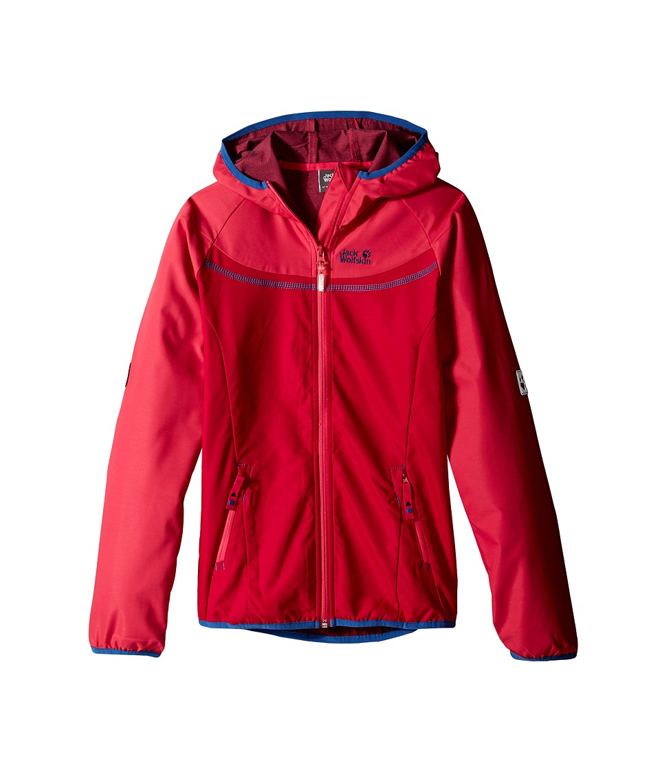 Jack Wolfskin Kids Turbulence Jacket Little Kid/Big Kid Azalea Red Girls Coat