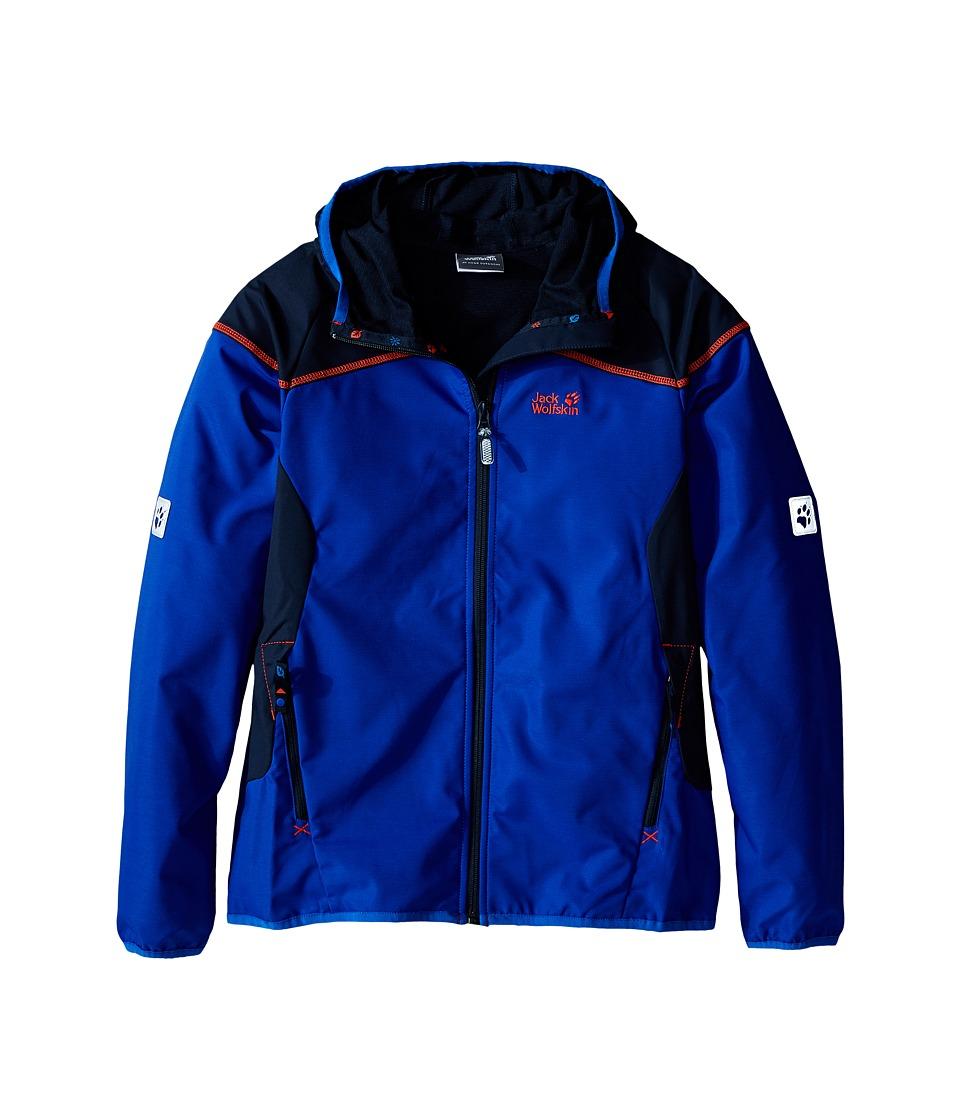 Jack Wolfskin Kids Turbulence Jacket Little Kid/Big Kid Active Blue Boys Coat