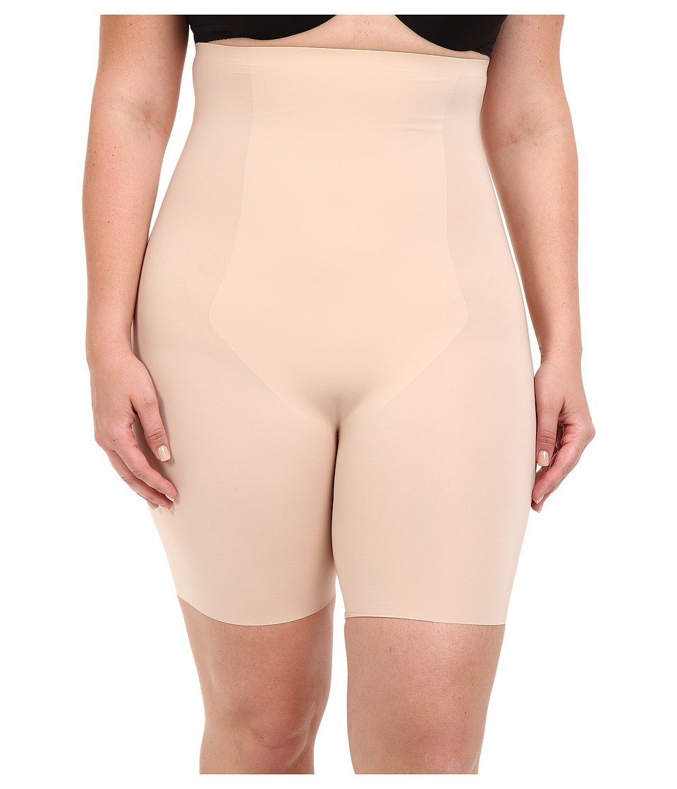 Spanx Plus Size Thinstincts High Waisted Mid Thigh Short Soft Nude Womens Underwear