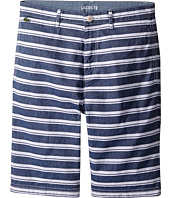 Lacoste Kids - Cotton and Linen Stripe Chambray Bermuda Shorts (Little Kids/Big Kids)