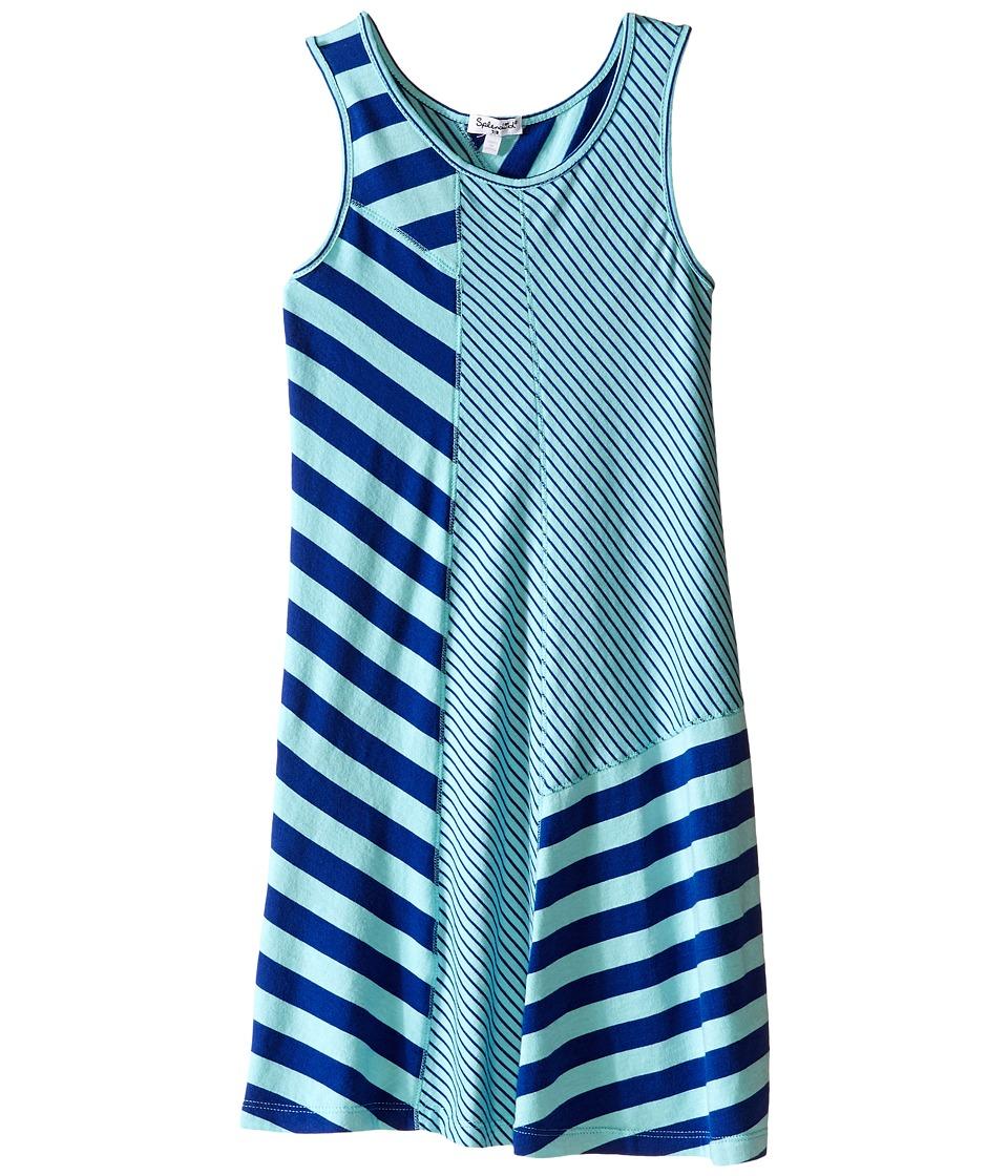 Splendid Littles Striped Yarn Dye Tank Dress Big Kids Aqua Girls Dress