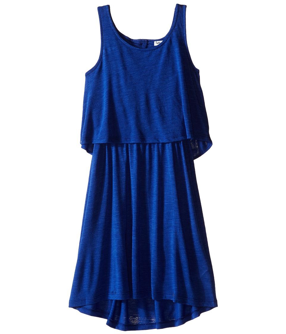 Splendid Littles A Line Dress with Button Detail Big Kids Royal Blue Girls Dress