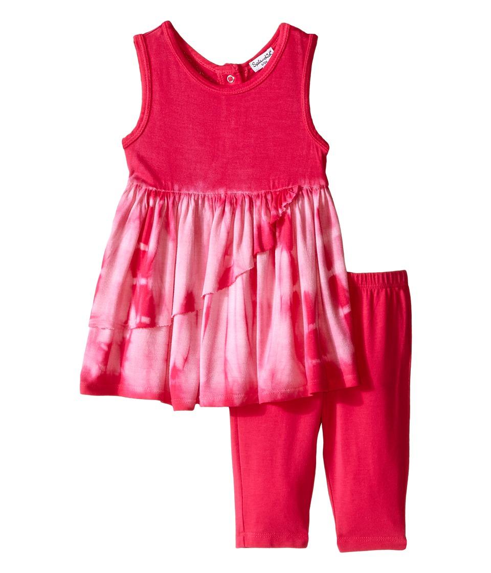 Splendid Littles Tie Dye Dress Pants Set Infant Dark Pink Girls Active Sets