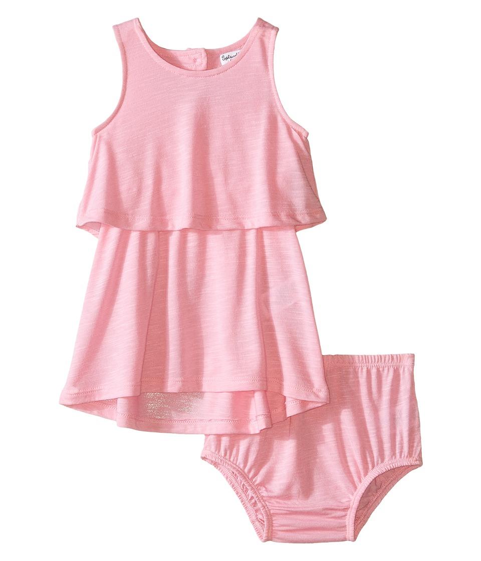 Splendid Littles A Line Dress with Button Detail Infant Light Pink Girls Dress