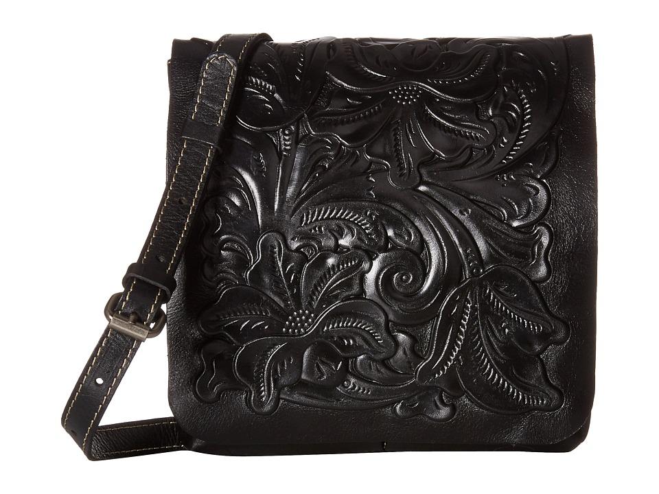 Patricia Nash - Tooled Granada Crossbody (Black) Cross Body Handbags
