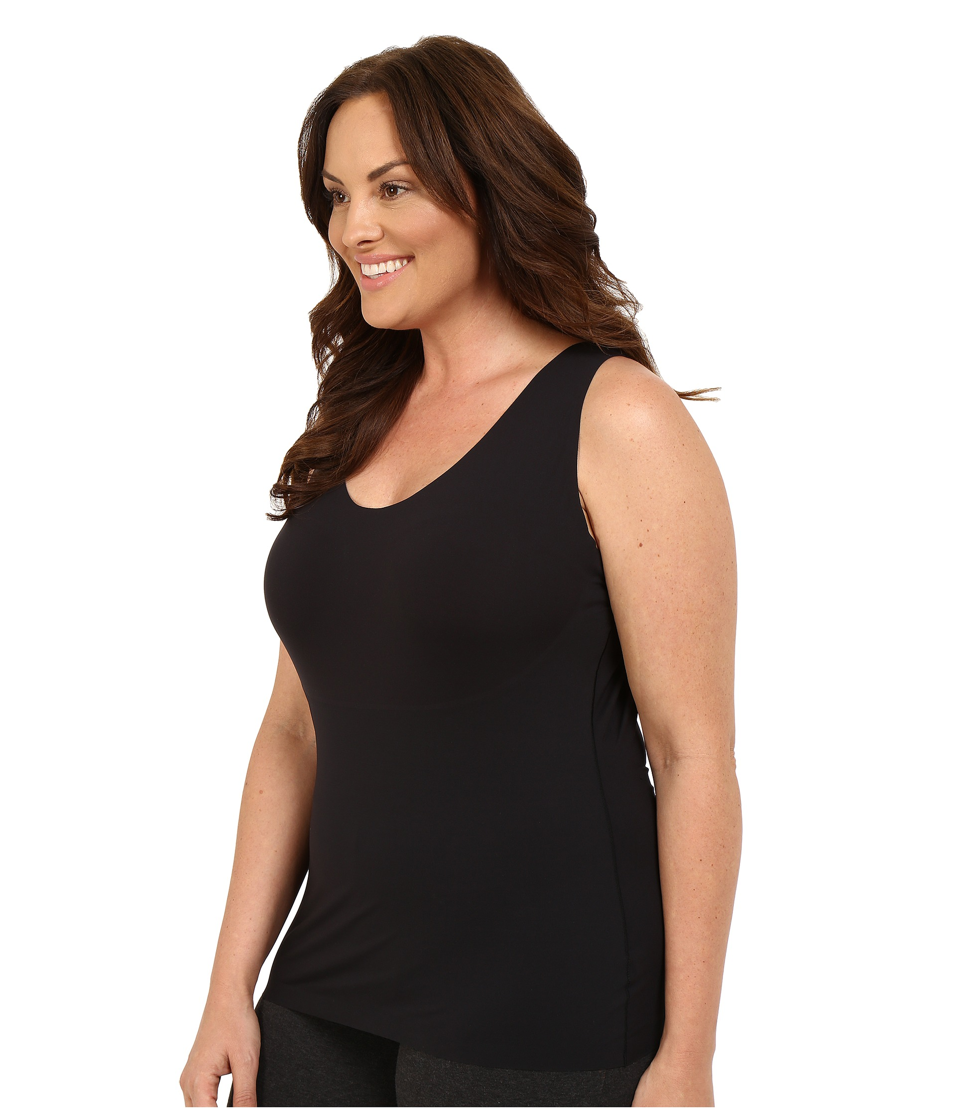 Spanx plus size thinstincts tank free for Plus size spanx for wedding dress