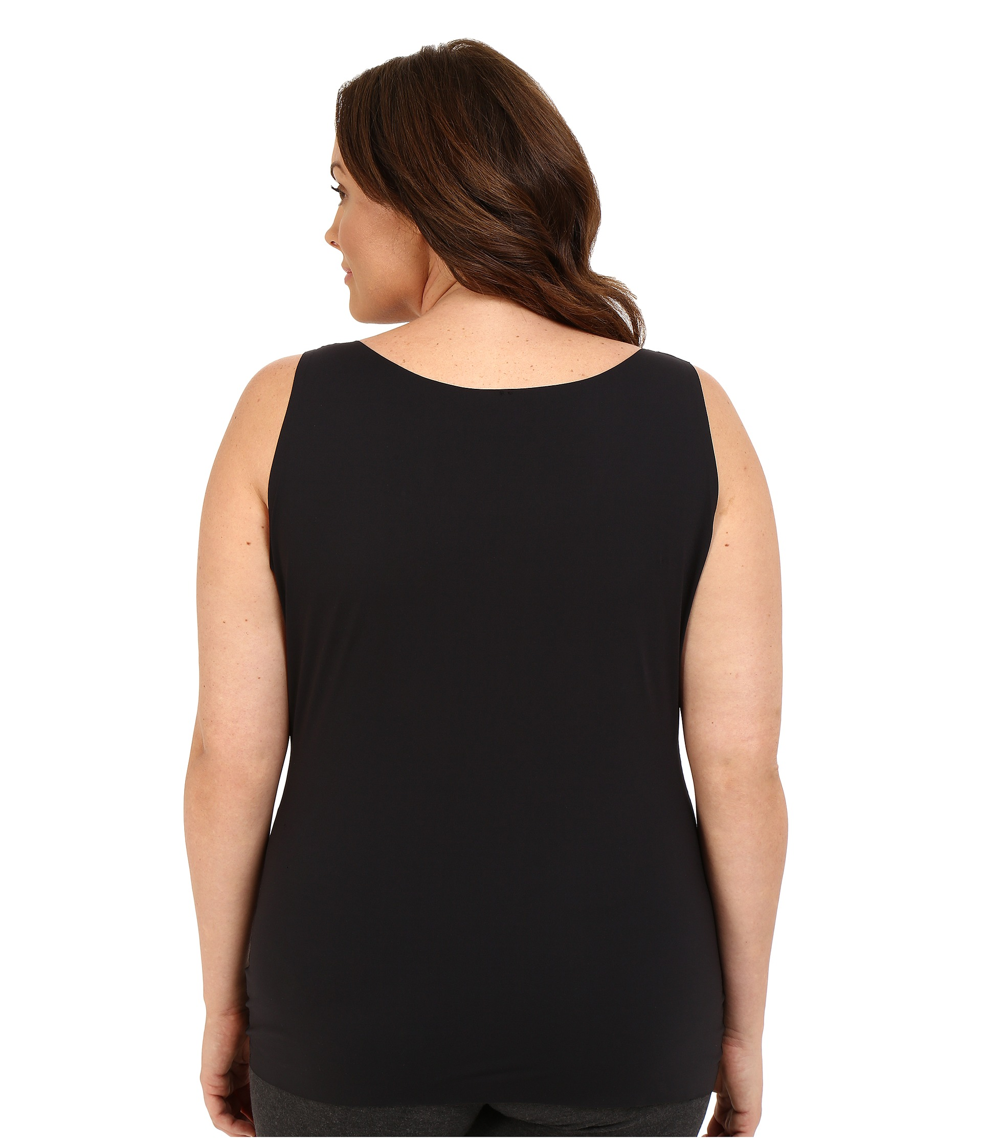 Spanx plus size thinstincts tank very black for Plus size spanx for wedding dress