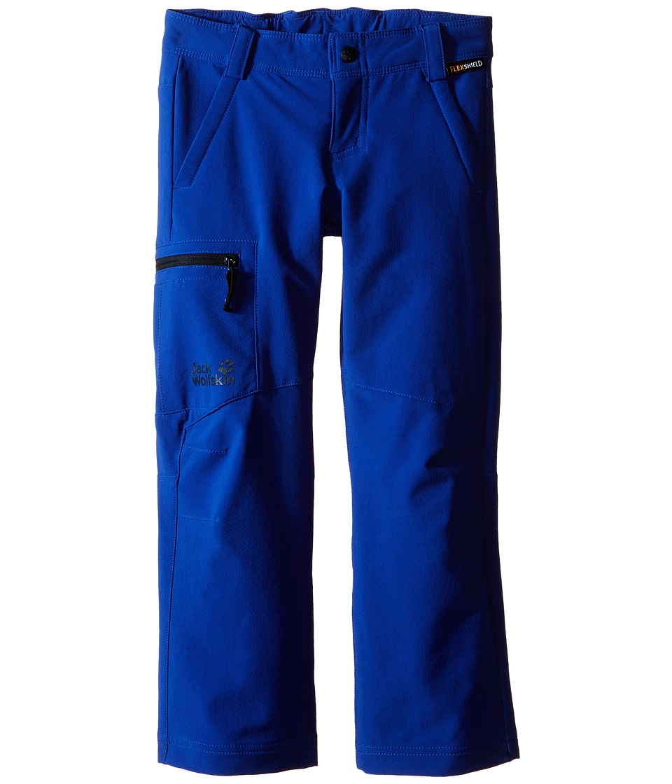 Jack Wolfskin Kids Activate II Softshell Pants Little Kid/Big Kid Active Blue Boys Casual Pants