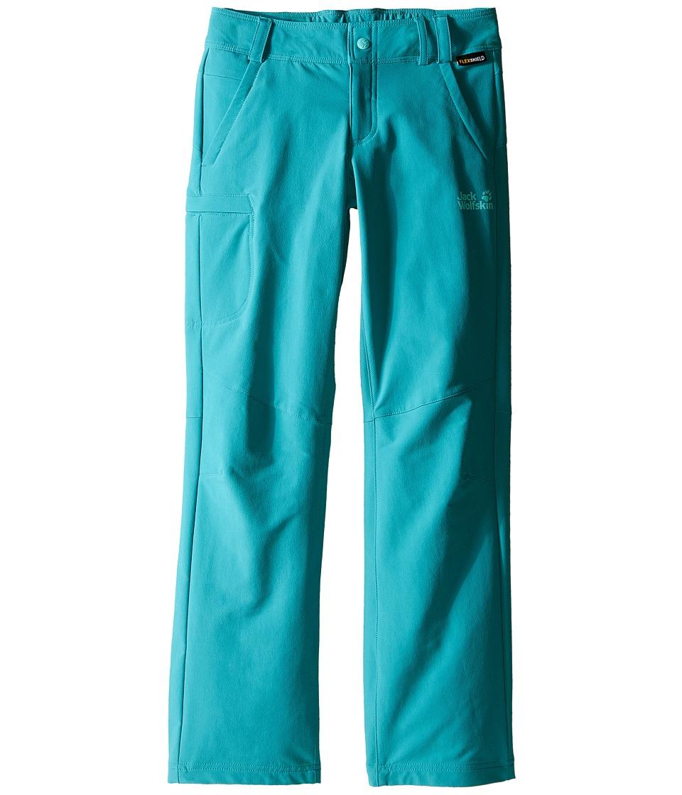 Jack Wolfskin Kids Activate II Softshell Pants Little Kid/Big Kid Spearmint Girls Casual Pants