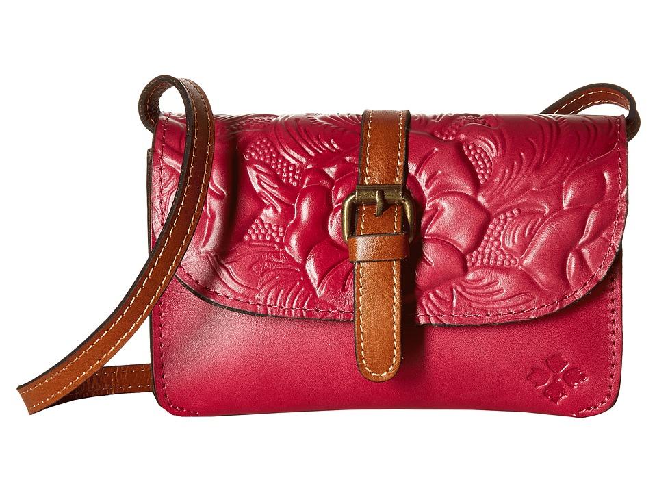 Patricia Nash - Tooled Torri Rose Crossbody (Raspberry) Cross Body Handbags
