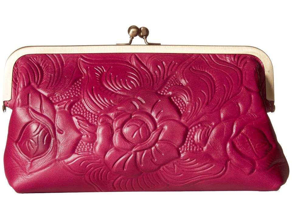 Patricia Nash - Potenaz Frame Clutch (Raspberry) Clutch Handbags