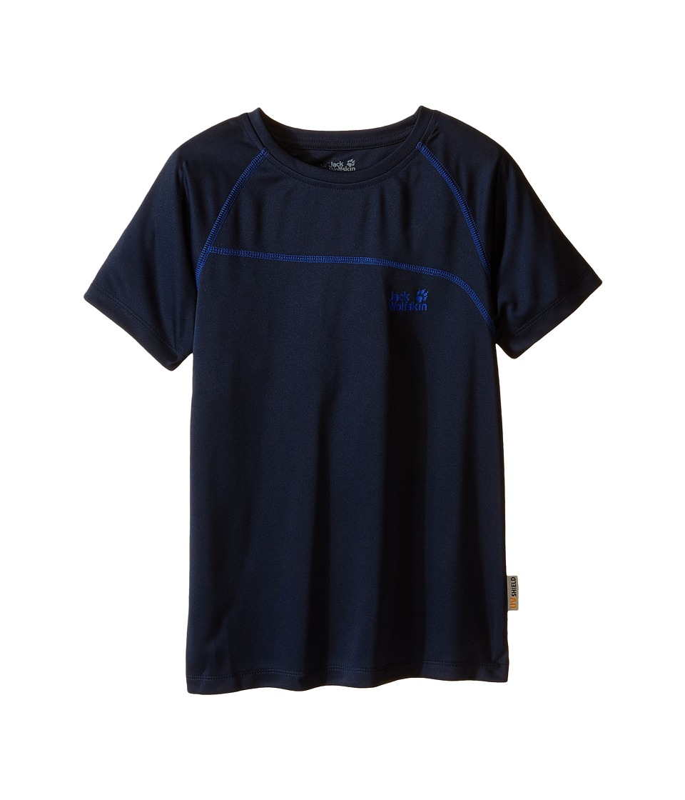 Jack Wolfskin Kids Active T Shirt Little Kid/Big Kid Night Blue Boys T Shirt