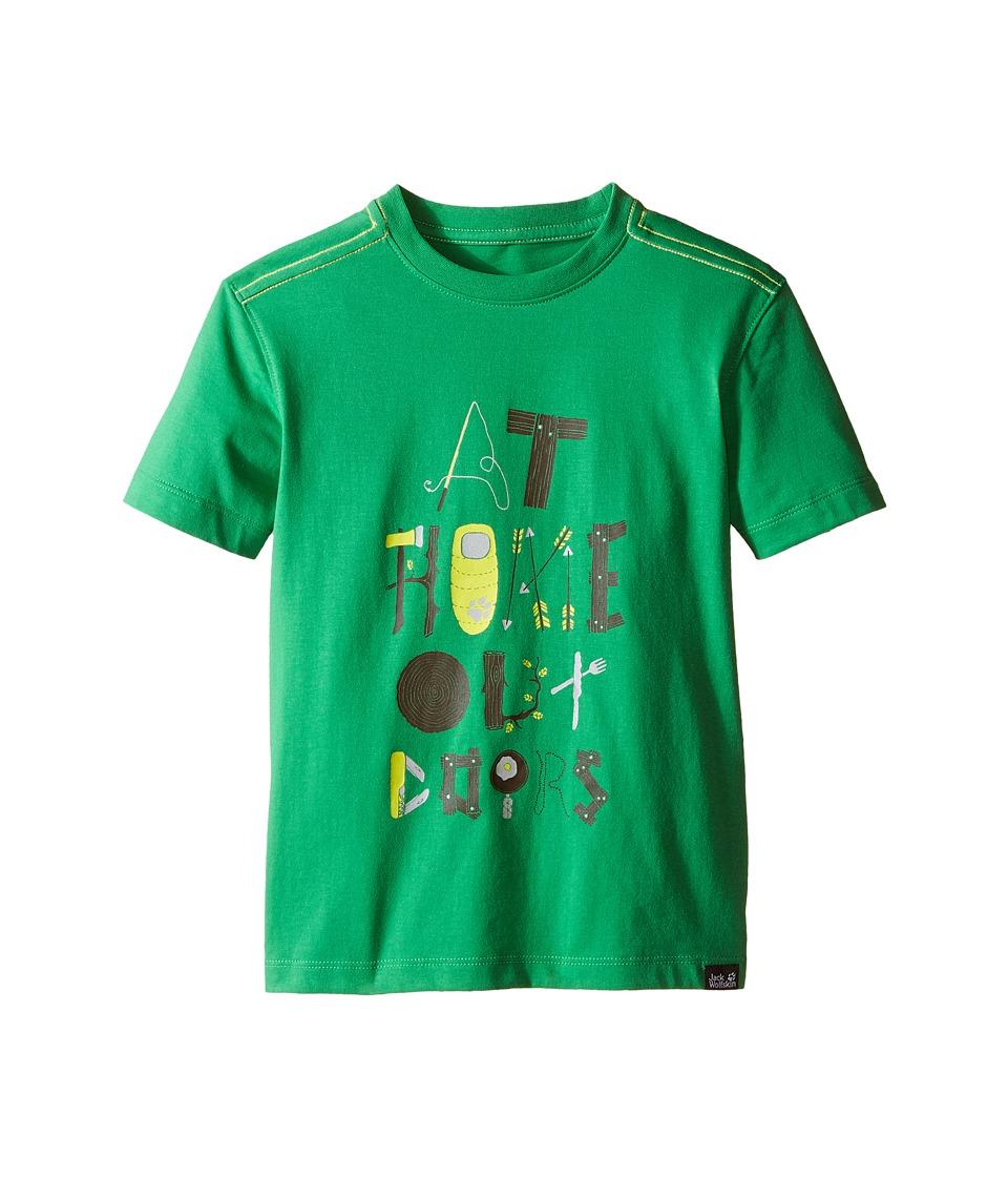 Jack Wolfskin Kids Wilderness T Shirt Little Kid/Big Kid Seagrass Boys Short Sleeve Pullover