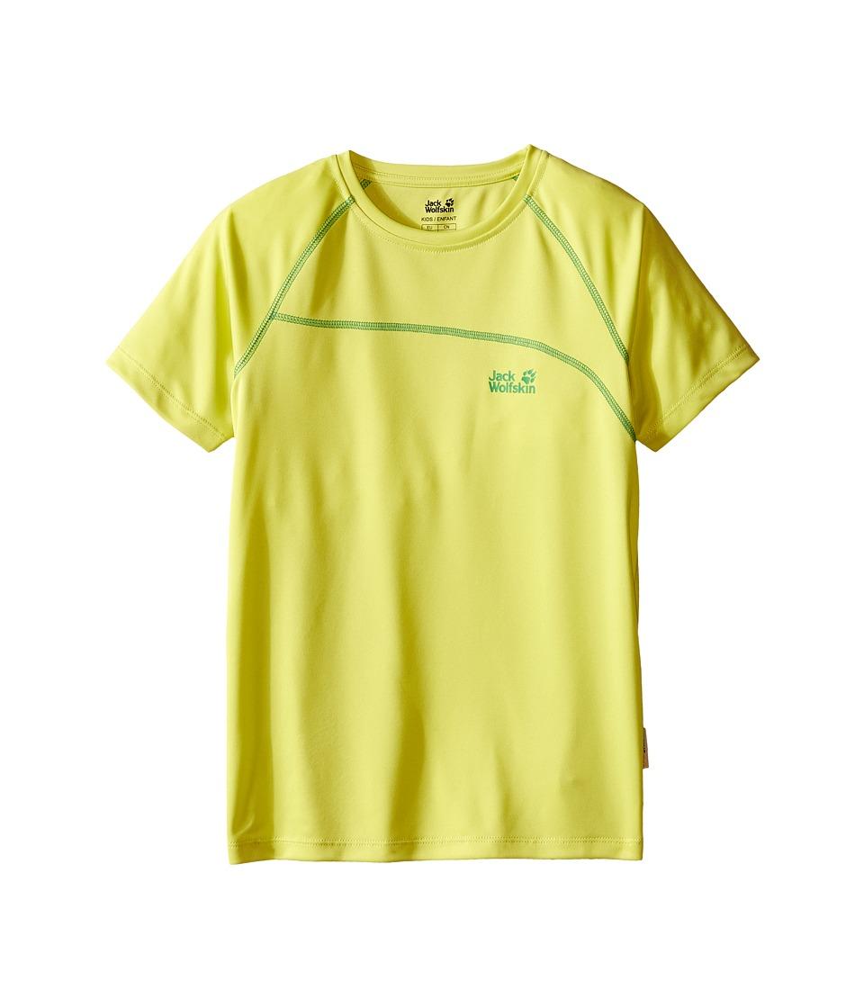 Jack Wolfskin Kids Active T Shirt Little Kid/Big Kid Bright Absinth Boys T Shirt