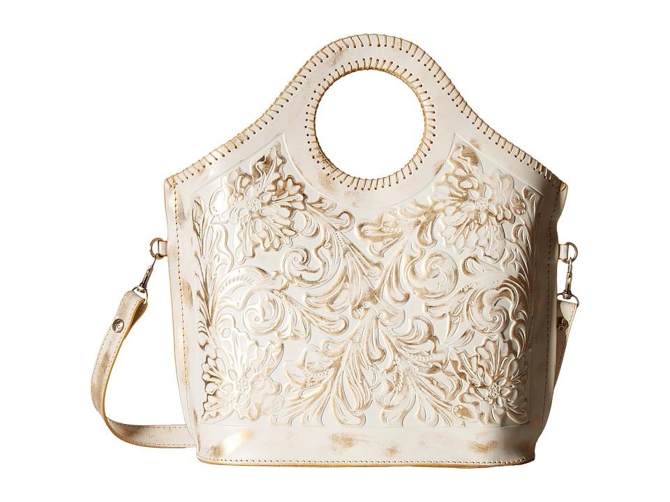 Patricia Nash - Tooled Moretto (White Gold) Tote Handbags