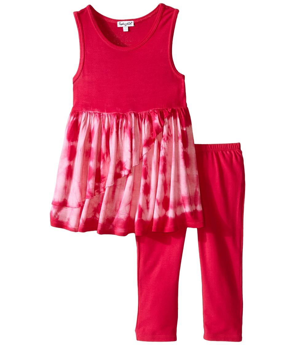 Splendid Littles Tie Dye Dress Pants Set Toddler Dark Pink Girls Active Sets