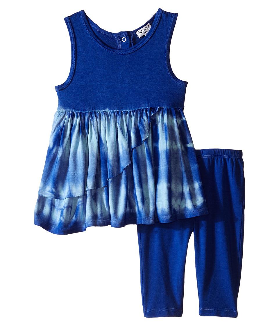 Splendid Littles Tie Dye Dress Pants Set Infant Royal Blue Girls Active Sets
