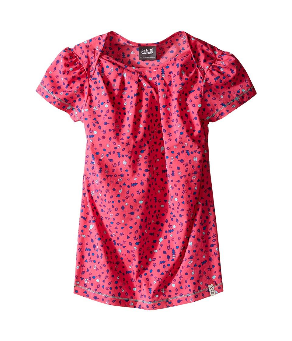 Jack Wolfskin Kids Sunflower Shirt Little Kid/Big Kid Pink Raspberry Girls Clothing