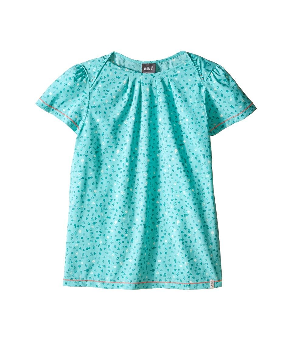 Jack Wolfskin Kids Sunflower Shirt Little Kid/Big Kid Pool Blue Girls Clothing
