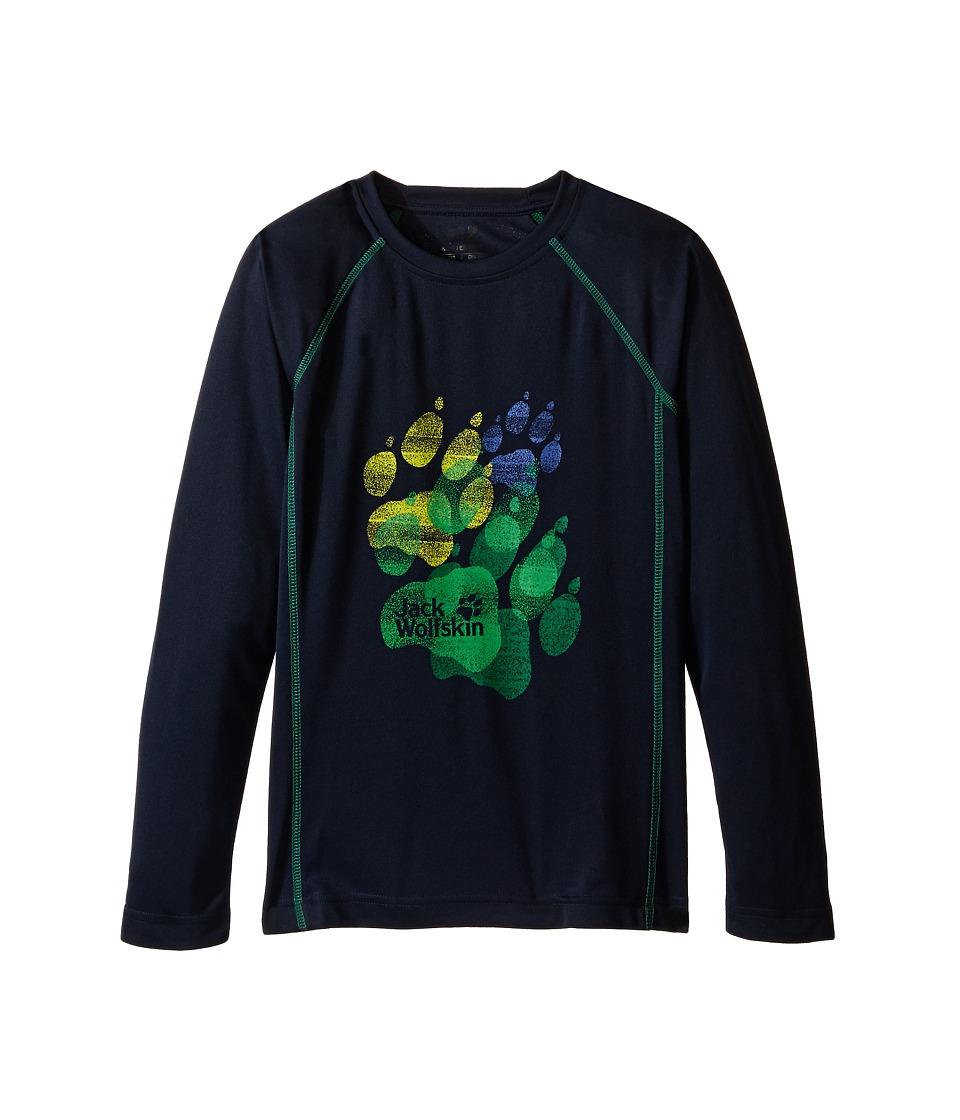Jack Wolfskin Kids Sunshade Long Sleeve Little Kid/Big Kid Night Blue Boys Clothing
