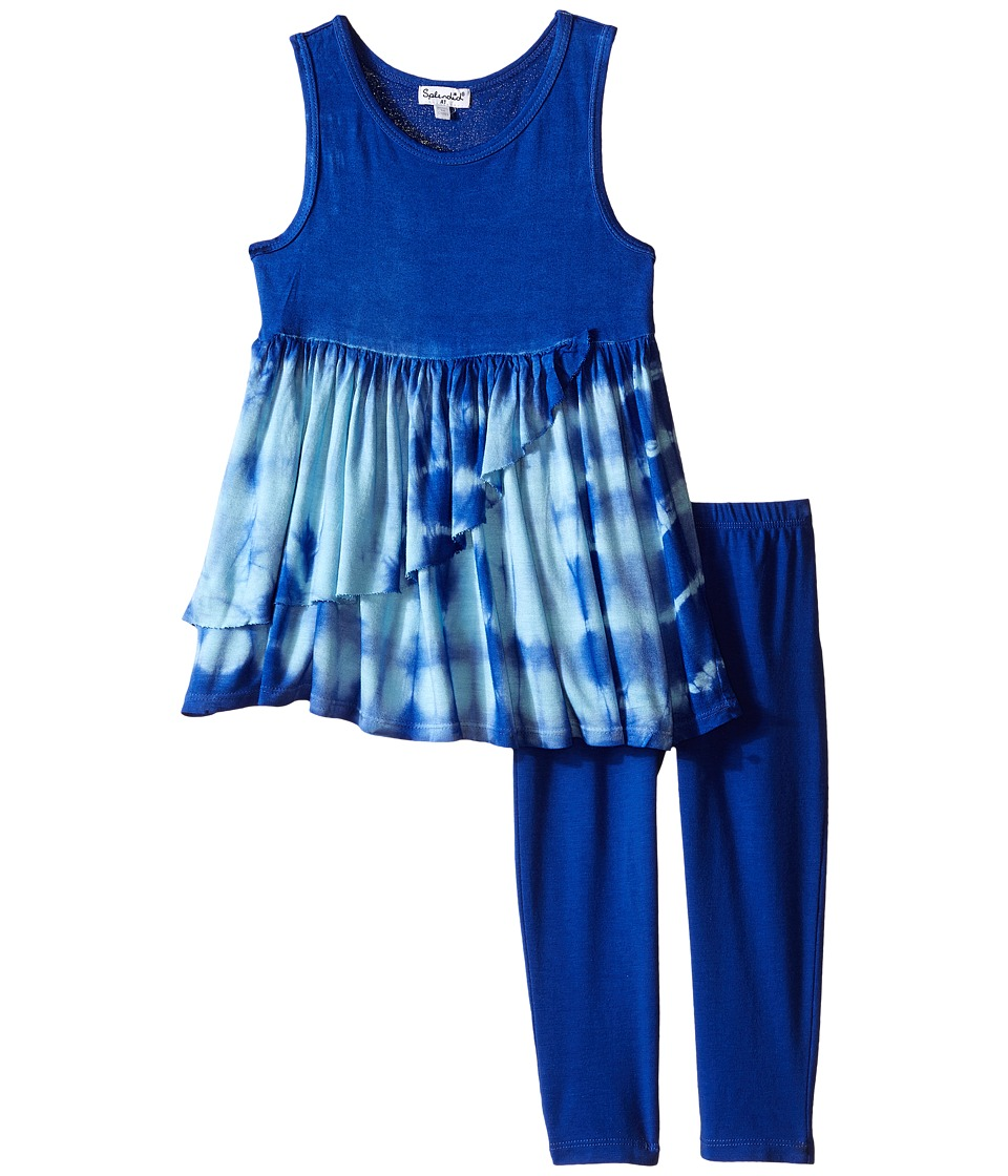 Splendid Littles Tie Dye Dress Pants Set Toddler Royal Blue Girls Active Sets