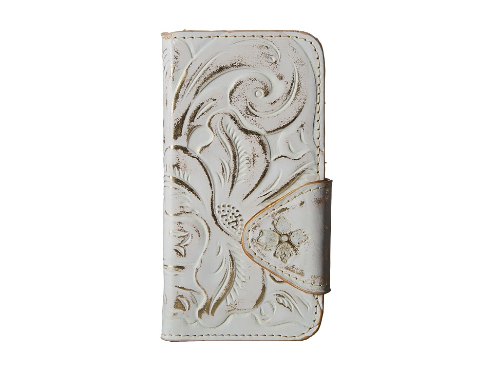 Patricia Nash - Tooled Fiona iPhone 6 Case (White Gold Tooled) Cell Phone Case