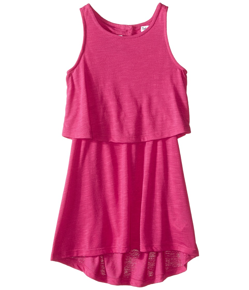 Splendid Littles A Line Dress with Button Detail Toddler Dark Pink Girls Dress