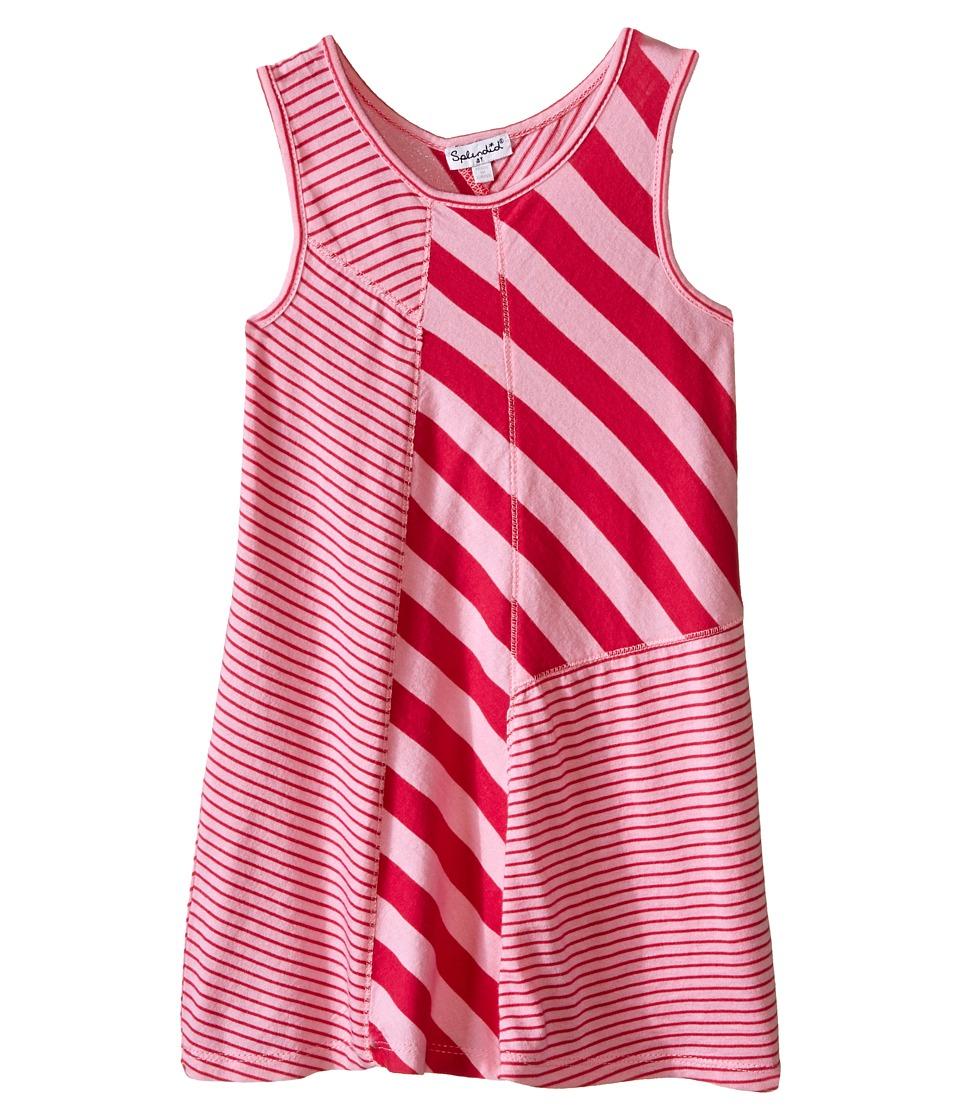 Splendid Littles Multi Stripe Yarn Dye Dress Toddler Light Pink Girls Dress