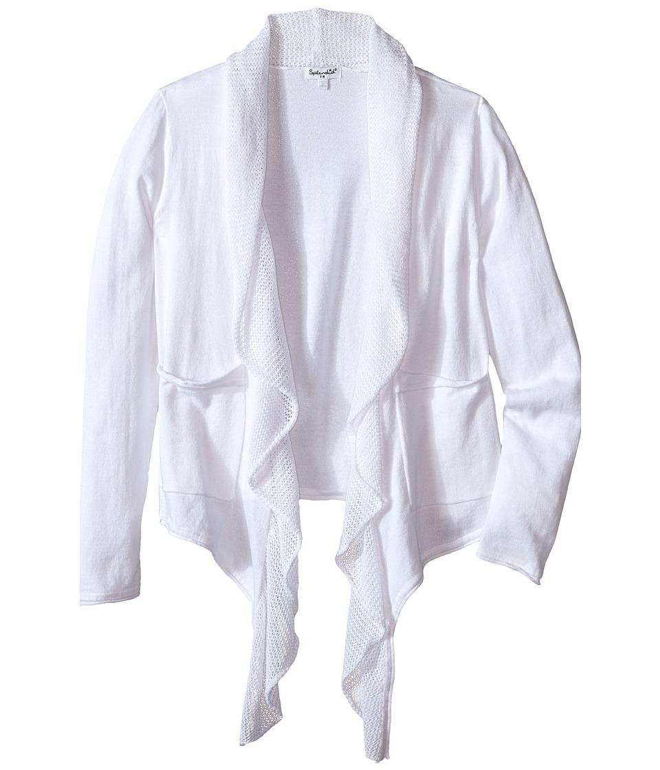 Splendid Littles Loose Knit Wrap Big Kids White Girls Sweater