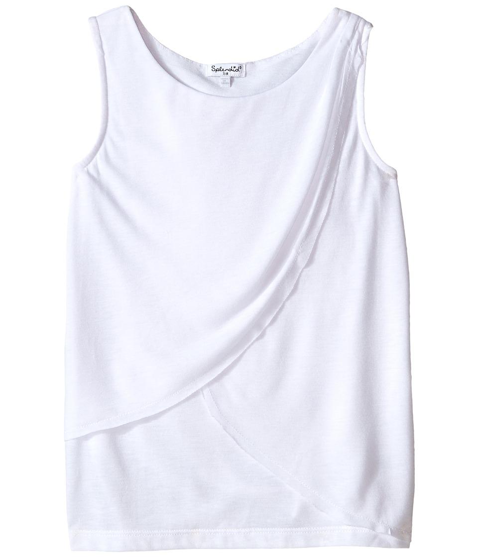 Splendid Littles Rayon Jersey Top Big Kids White Girls Clothing