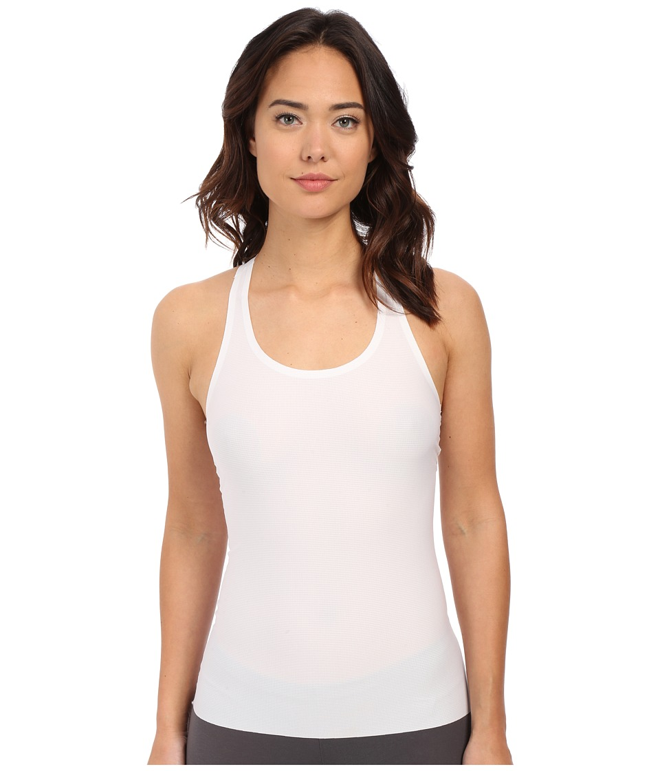 Spanx Perforated Racerback Tank Top White Womens Sleeveless
