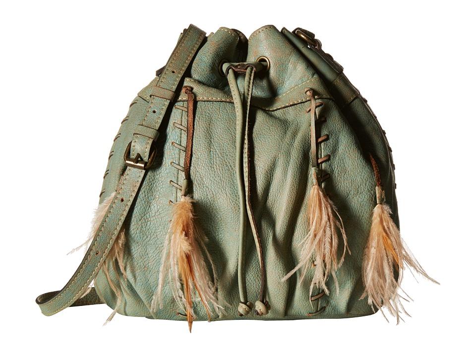 Patricia Nash - Picerno Drawstring Crossbody (Light Denim) Cross Body Handbags