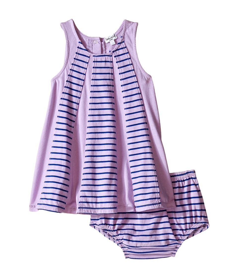 Splendid Littles Striped Dress with Yarn Dye Overlays Infant Lilac Girls Dress
