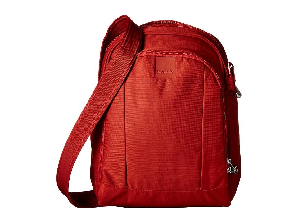 Pacsafe - Metrosafe LS250 Shoulder Bag (Vintage Red) Shoulder Handbags plus size,  plus size fashion plus size appare