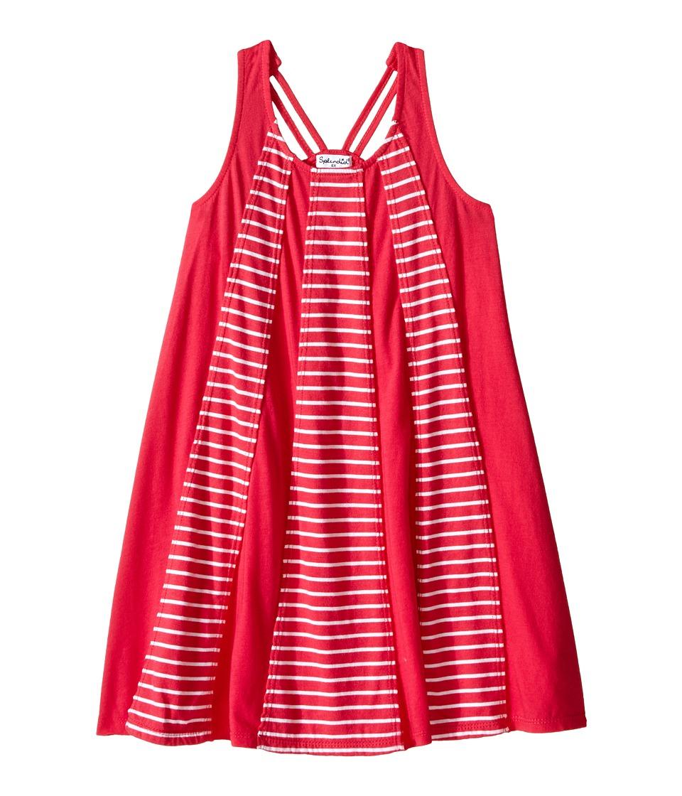 Splendid Littles Striped Dress with Yarn Dye Overlays Little Kids Dark Pink Girls Dress