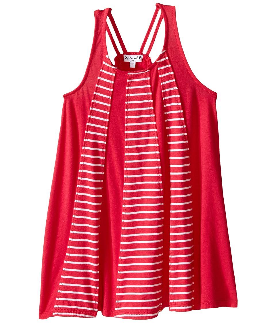 Splendid Littles Striped Dress with Yarn Dye Overlays Toddler Dark Pink Girls Dress