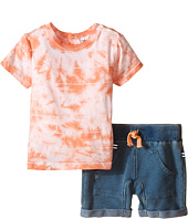 Splendid Littles - Striped Tie-Dye Tee with Indigo Shorts
