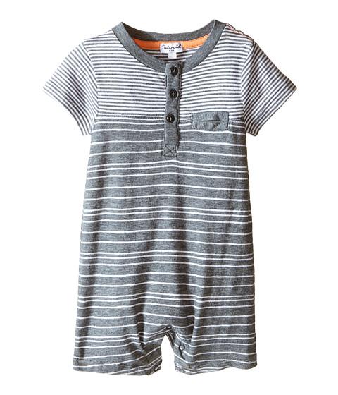 Splendid littles mix striped romper infant charcoal grey for Splendid infant