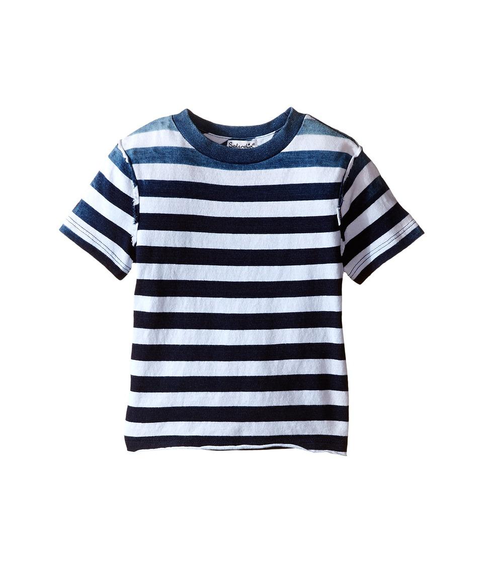 Splendid Littles - Striped Dip Dye Indigo Tee