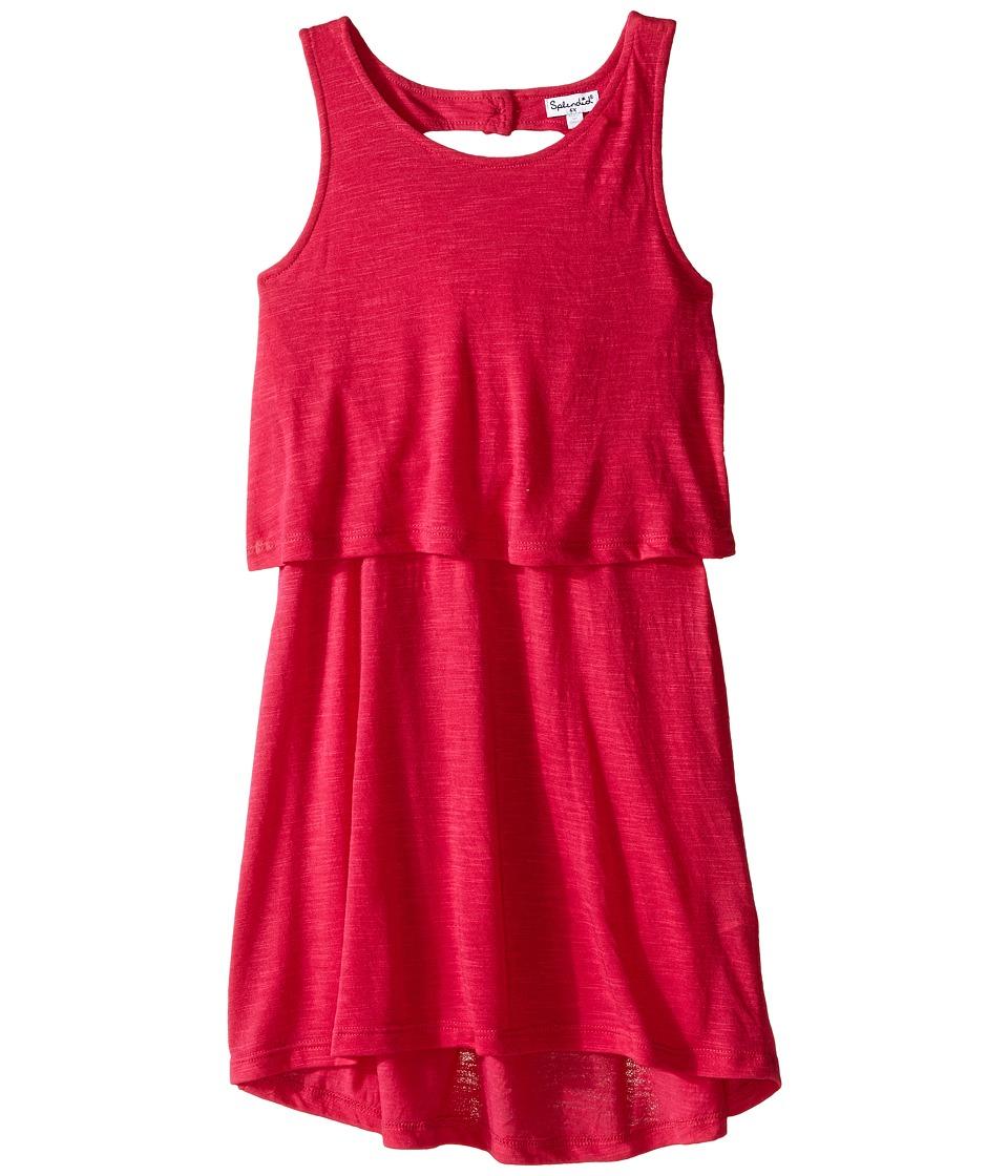 Splendid Littles A Line Dress with Button Detail Little Kids Dark Pink Girls Dress