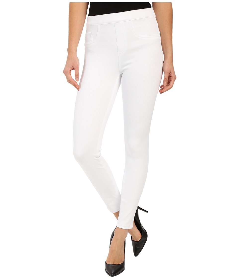 Spanx Cut Sew Cropped Indigo Knit Leggings White Womens Clothing