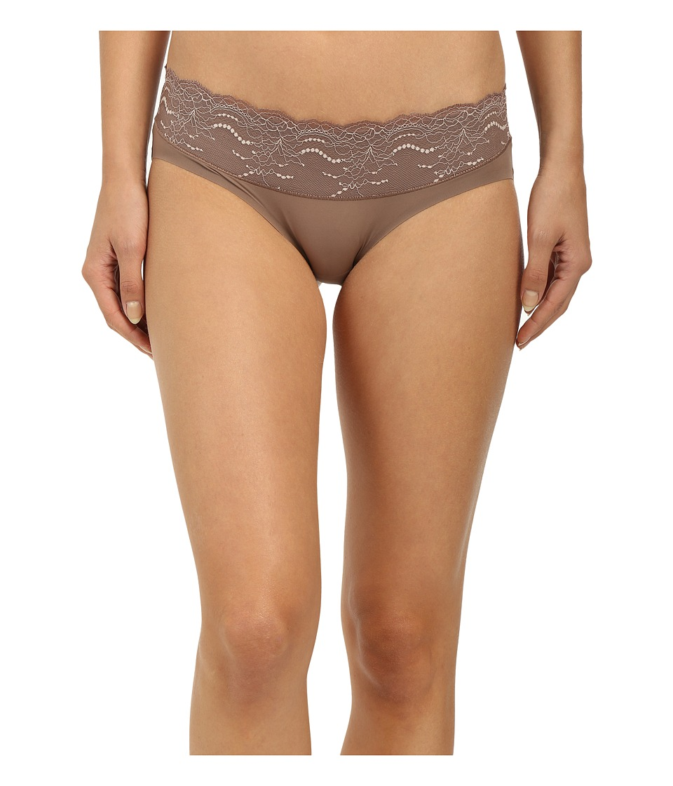 Spanx Lace Waist Hipster Mineral Taupe Womens Underwear