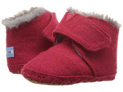 TOMS Kids Cuna Layette (Infant/Toddler) - Red Felt