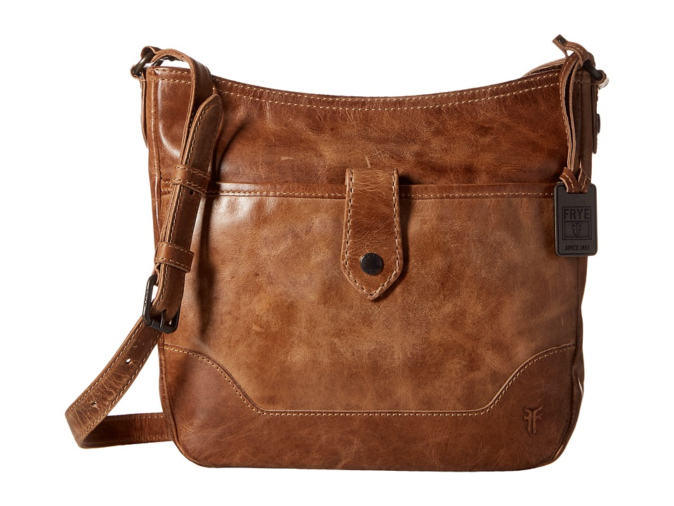 Frye - Melissa Button Crossbody (Beige) Cross Body Handbags