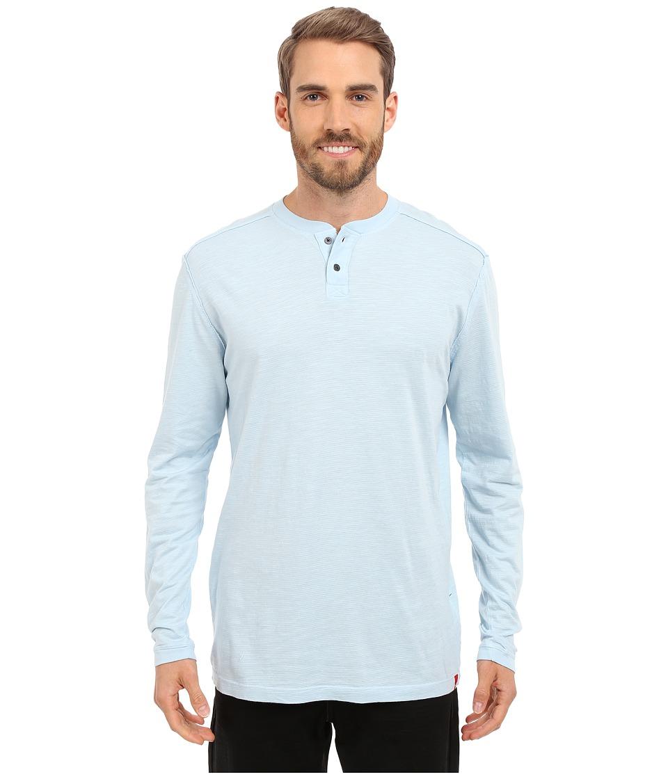 Agave Denim Kilchis Long Sleeve Henley Cool Blue Mens Clothing