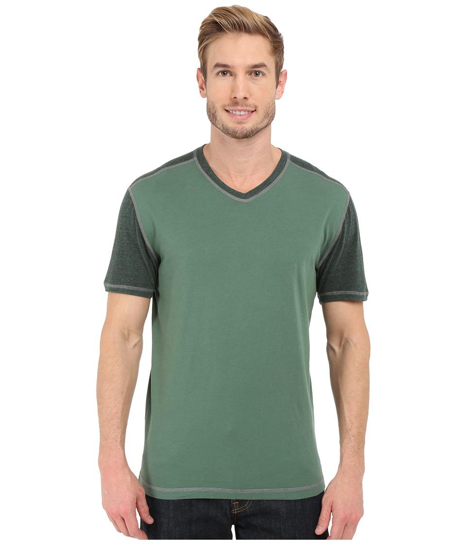 Agave Denim Rubicon Baseball V Neck Short Sleeve Silver Pine Mens Short Sleeve Pullover